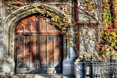 Photograph - 1335 University Of Chicago Doorway by Steve Sturgill
