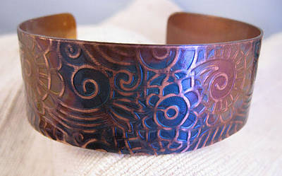 Jewelry - 1341 Paisley Cuff by Dianne Brooks