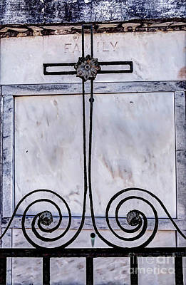 Photograph - 1343 St. Louis Cemetery Number One by Steve Sturgill