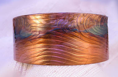 Jewelry - 1343 Woodgrain Cuff Bracelet by Dianne Brooks