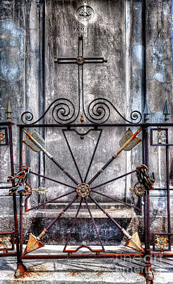 Photograph - 1345 St. Louis Cemetery Number One by Steve Sturgill