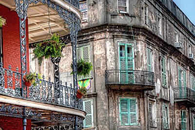 Photograph - 1346 French Quarter Balconies by Steve Sturgill