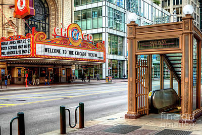 Photograph - 1349 Chicago Theater Marquee by Steve Sturgill