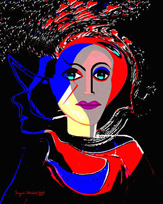 Flashy Painting - 135 - Flashy Woman Poster 1 ...    by Irmgard Schoendorf Welch