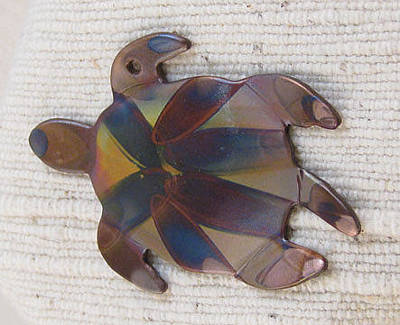 Jewelry - 1355 Sea Turtle Harnessed, Pendant by Dianne Brooks