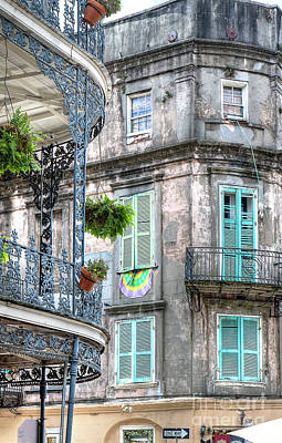 Photograph - 1358 French Quarter Balconies by Steve Sturgill