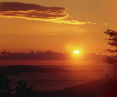 Photograph - 136201-a Sunrise From Cadillac Mountain by Ed Cooper Photography