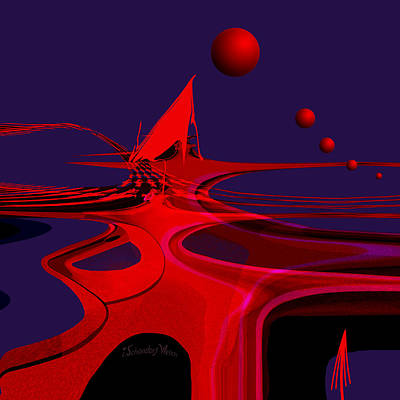 Digital Art - 1367 - On A Strange New Planet by Irmgard Schoendorf Welch