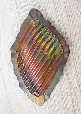 Jewelry - 1368 Corrugated Shell by Dianne Brooks