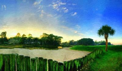 Evening Painting - Nature Landscape Jobs by Margaret J Rocha