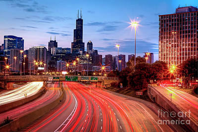 Photograph - 1372 Light Trails by Steve Sturgill