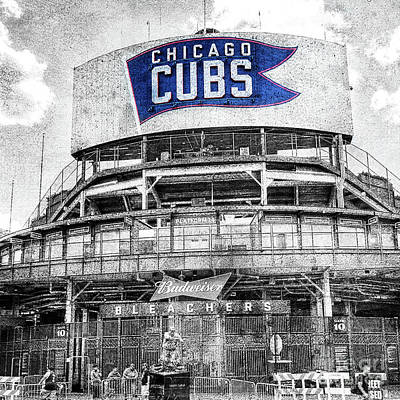 Photograph - 1373 Vintage Wrigley Field by Steve Sturgill