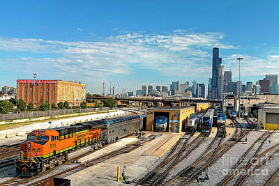 Photograph - 1374 Bnsf Train From 18th Street Bridge by Steve Sturgill