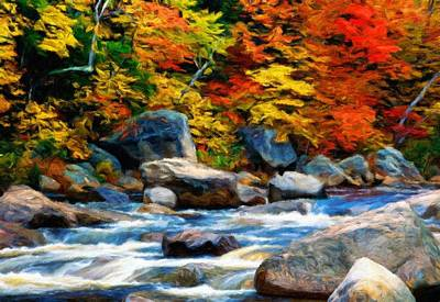 River Painting - Oil Painting Landscape Pictures Nature by Margaret J Rocha