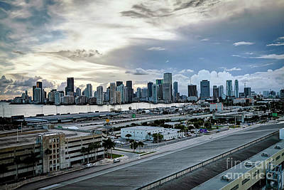 Photograph - 1385 Storm Clouds Over Miami by Steve Sturgill