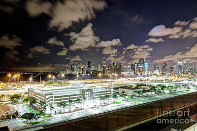 Photograph - 1386 Miami At Night by Steve Sturgill
