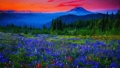 Autumn Painting - Landscape Nature by Margaret J Rocha