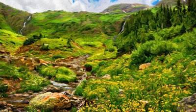 Colorful Painting - Oil Paintings Art Landscape Nature by Margaret J Rocha