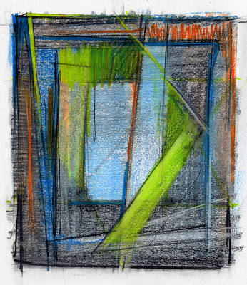 Blue Abstracts Drawing - Rcnpaintings.com by Chris N Rohrbach