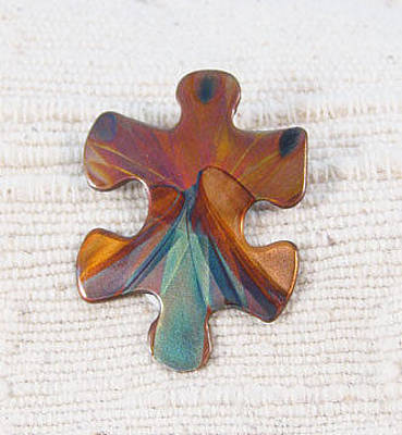 Jewelry - 1399 Puzzle Piece by Dianne Brooks