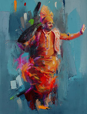 South East Asian Art Painting - 13pakistan Folk Punjab B by Mahnoor Shah