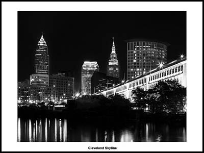 Photograph - 13x10 Cleveland Skyline by Dale Kincaid