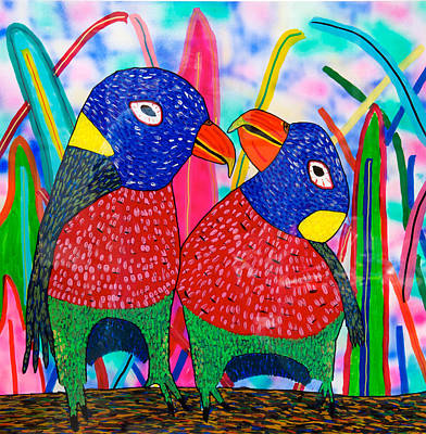 Painting - 14-12 Tropical Birds by Patrick OLeary