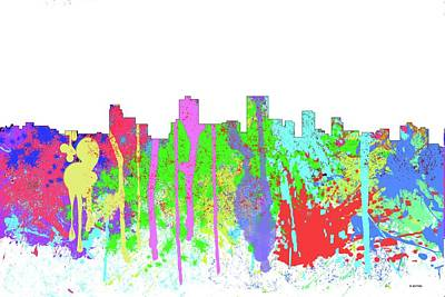 Digital Art - Anchorage Alaska Skyline by Marlene Watson