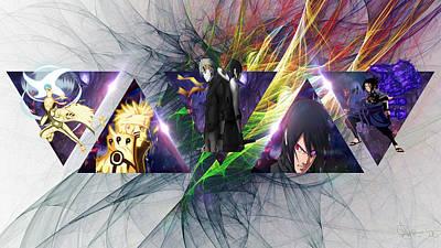 Digital Art Digital Art - Anime by Super Lovely