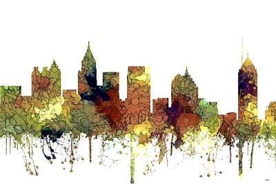 Digital Art - Atlanta Georgia Skyline by Marlene Watson