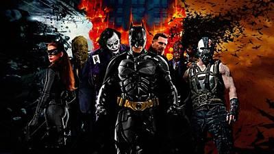 Batman Digital Art - Batman Costume Poster by Egor Vysockiy