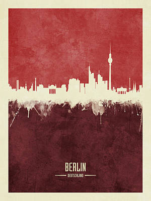 Berlin Germany Skyline Art Print