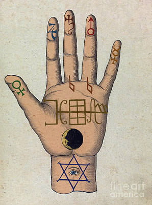 Religious Art Photograph - Cabbalistic Signs And Sigils, 18th by Science Source