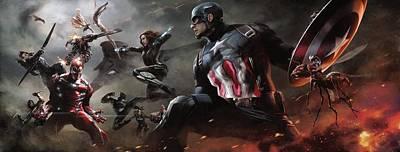 Captain America Civil War 2016 Art Print