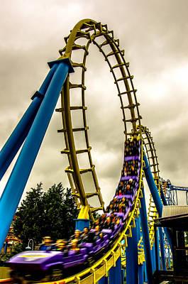 Mellow Yellow - Crazy Rollercoaster Rides At Amusement Park by Alex Grichenko