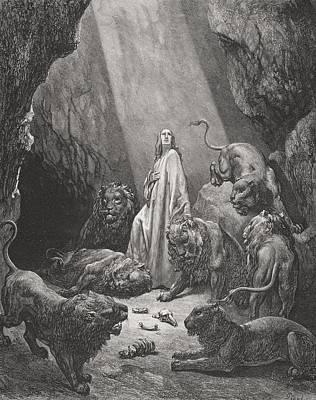 Engraving From The Dore Bible Art Print by Vintage Design Pics