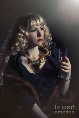 Champagne Photograph - Film Noir Woman by Amanda Elwell