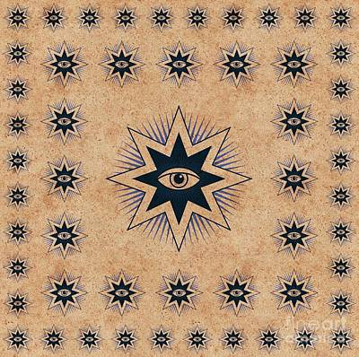 Trowels Painting - Freemason Symbolism by Pierre Blanchard