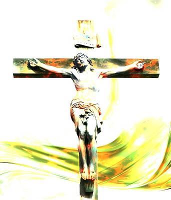 Graphic Digital Art - Jesus Christ - Religious Art by Elena Kosvincheva