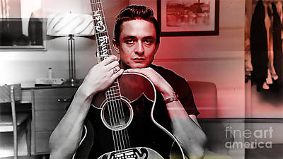 Johnny Cash Mixed Media - Johnny Cash by Marvin Blaine