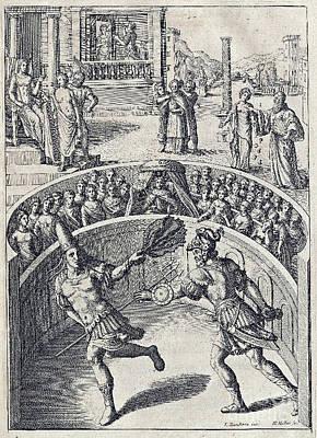 Swordsman Photograph - Juvenals Satires, Manners Of Men by Folger Shakespeare Library