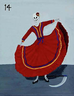 Painting - #14 La Muerte by Charla Van Vlack