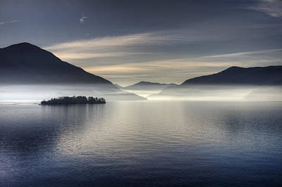 Morning Mist Photograph - Lake Maggiore by Joana Kruse