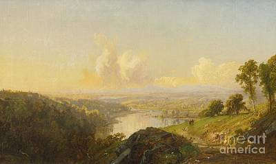 Jasper Francis Cropsey Painting - Landscape by MotionAge Designs