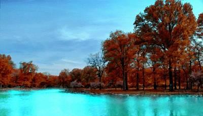 Forest Digital Art - Landscape Native by Malinda Spaulding