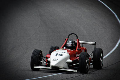 Photograph - 14 Mazda Exits Turn by Mike Martin