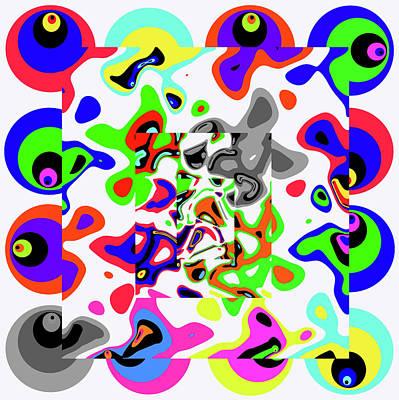 Tv Set Digital Art - Meditation -- Time Travel Art by Sir Josef - Social Critic -  Maha Art