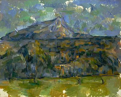 Post-impressionist Painting - Mont Sainte-victoire by Paul Cezanne