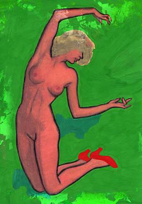 Nude Woman Art Print by Jay Morino