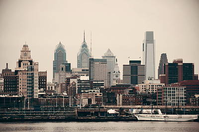 Photograph - Philadelphia Skyline by Songquan Deng